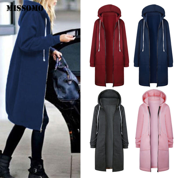 Warm Zipper Open Hoodies Coats Jackets