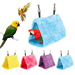 Plush Birds Parrot Hammock Nest Hang Bed