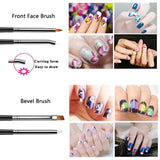 Fall Nail Art Set  Polish Foil Sticker Kit