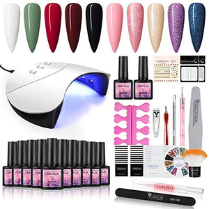 Fall Nail Manicure Gel Polish Kit