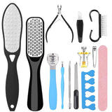 Hapythda Professional Pedicure Tools Kit Foot Scrubber Scraper for Dead Skin, Foot File Rasp Callus Remover for Feet, Foot Care Nail Clippers File Set for Men Women,13 PCS