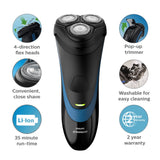 Philips Norelco S1560/81 Shaver 2100 Rechargeable Wet Electric Shaver, with Pop-up Trimmer, 0.851 pounds.