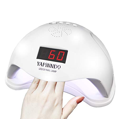 Nail Dryer, YAPINNDO Nail Lamp, Nail Fan Dryer 48W UV LED Gel Nail Dryer Curing Lamp with 4 Timer Setting LCD Screen Auto Sensor