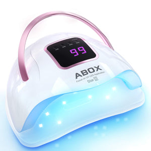 UV LED Nail Lamp 72W, ABOX Star2 Professional Nail Dryer Lamp for Gel Polish, Quick Dry Nail Light Curing with 36PCS LED, 4 Timer Setting, LCD Display, Auto Sensor Portable Gel Lamp for Home and Salon
