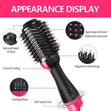 Hair Dryer Brush, Bongtai Hot Air Brush One Step Hair Dryer & Volumizer 3 in 1 Brush Blow Dryer Styler for Rotating Straightening, Curling, Salon Negative Ion Ceramic Blow Dryer Brush