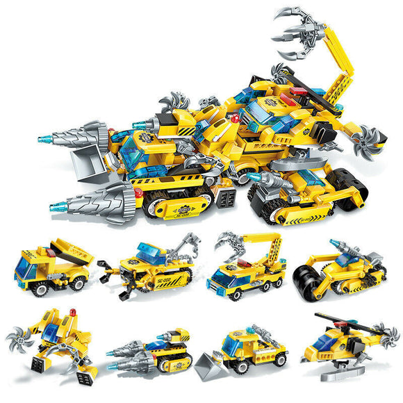 Brick Toys Vehicle Building Blocks Set