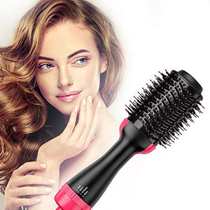 Hot Air Brush,Hair Dryer Brush, One Step Hair Dryer & Volumizer, Styler for Straightening, Curling, Salon Negative Ion Ceramic Electric Blow Dryer Rotating Straightener Curl Brush