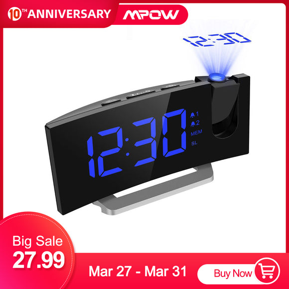 LED FM Projection Alarm Clock