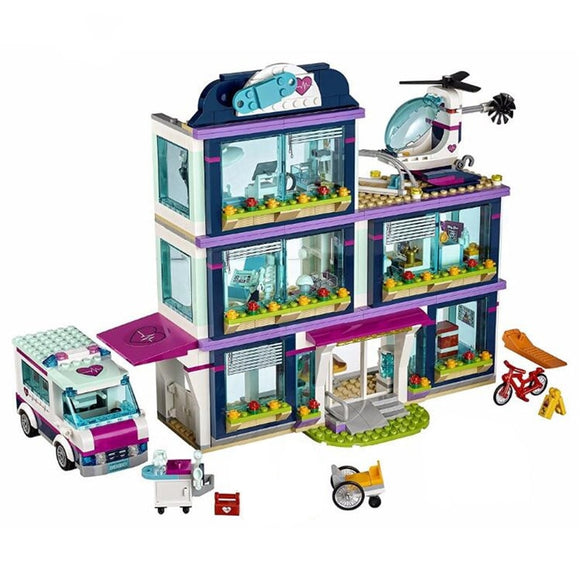 Brick Building Toys City Park Hospital 932Pcs Set