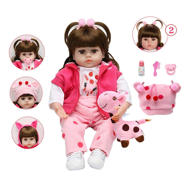 Christmas Baby Doll Soft Curly Hair Realistic