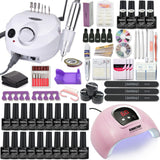 Fall Nails Manicure Kit Lamp Drill Machine Polish Set