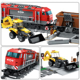 Brick Building Toys City Train Station Figures Helicopter Car Set