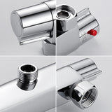 Twins Bath Shower Thermostatic Wall Mounted Faucets