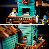 Brick Building Toys Seaside Old Fishing Store Set