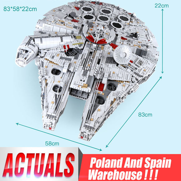 Brick Building Toys Millennium Star Wars Falcon Model