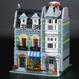 Brick Building Toys City Street Green Building