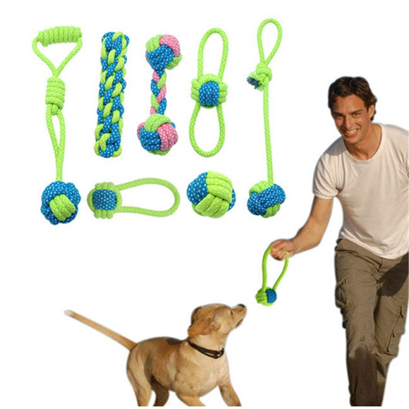 Cotton Knot Dog Rope Toy