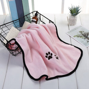 Dog Puppy Microfiber Bath Towels