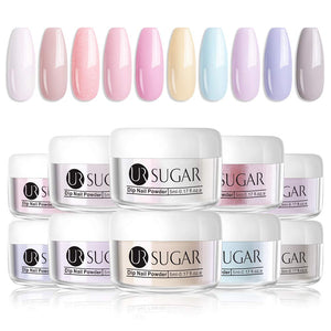 UR SUGAR 5ml Dipping Nail Powder Nail Art Glitter Powder Set 10 Colors Gold Silver Red shining Series Colors dipping nail powder Nails System for French Nail Manicure Set No UV/LED Nail Lamp Needed