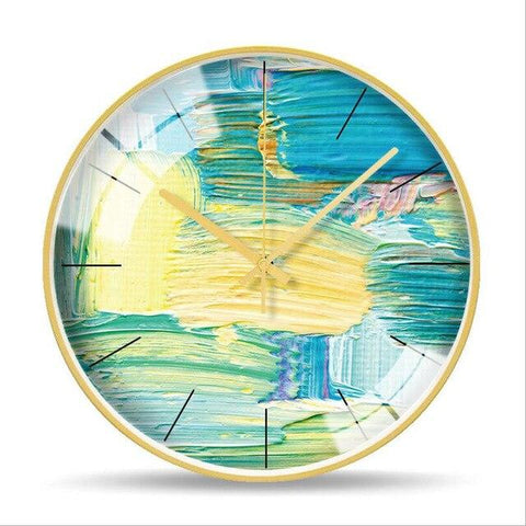 Horloge Murale Design Nuances de Couleurs