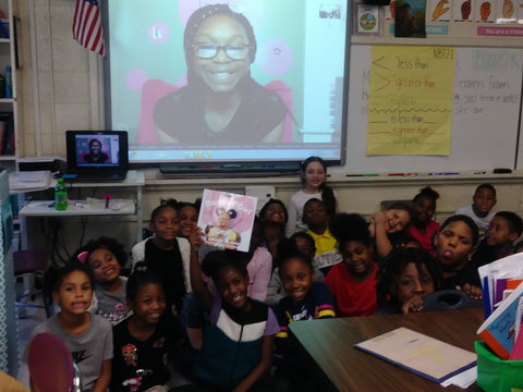 Jakayla Green Skype in the classroom Author Visit