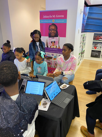 Jakayla at her Write on With Jakayla event in Charlotte, NC
