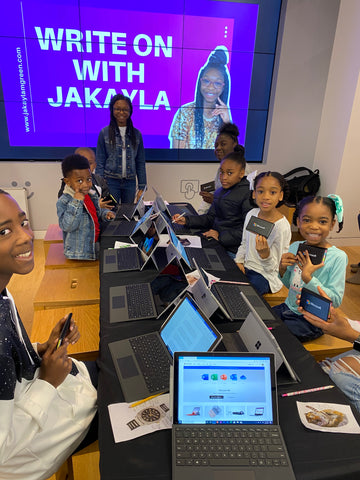 Jakayla Green at her Write on With Jakayla Youth tour in Charlotte, NC
