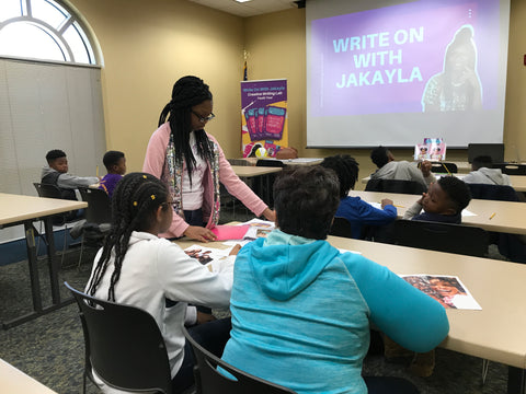Jakayla Green at her Write on With Jakayla event in Florence, SC