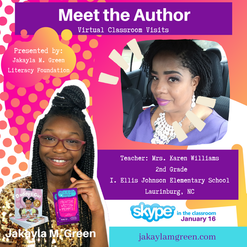 Meet the Author Skype in the Classroom with Jakayla M. Green