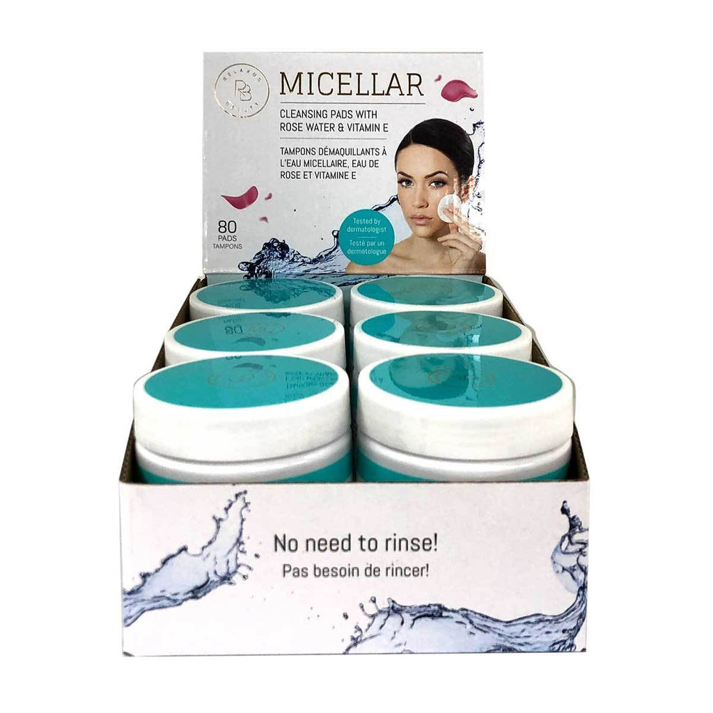 Relaxus Beauty Micellar Water Rose Vitamin E Cleansing Pads