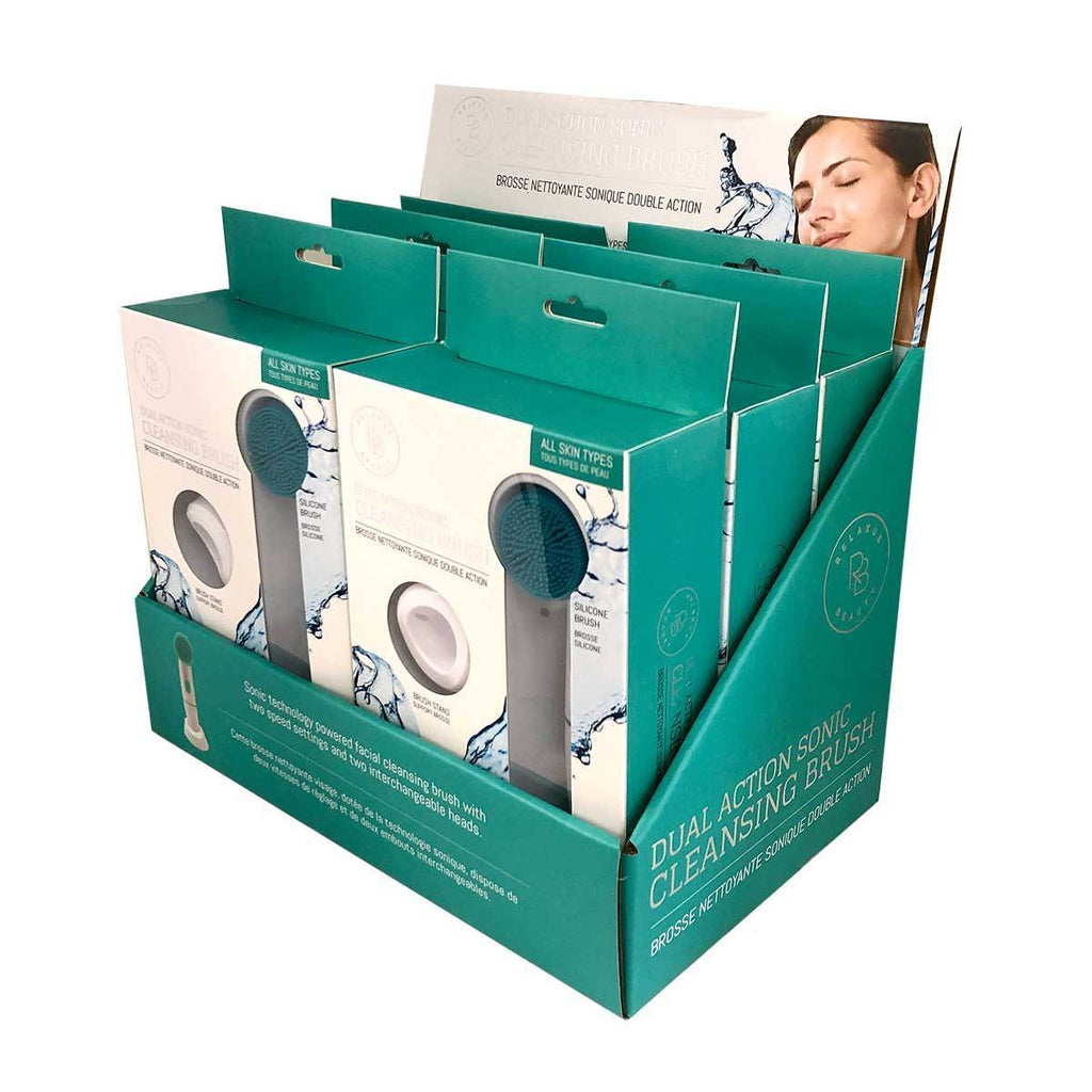 Relaxus Beauty Dual Action Sonic Facial Cleansing Brush