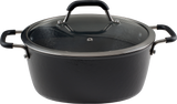 Ultra-Light Original Cast  Iron Casserole with Lid and Silicone Coated Grips- (3 Sizes)