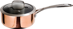 Maestro Copper Milkpan with Glass Lid- 2 Sizes