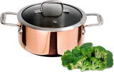 Maestro Copper Stockpot with Glass Lid- 2 Sizes