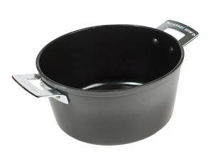 Ceramalj Enamel-Coated Light-Weight Cast Iron Casserole with Lid- 4 Quart