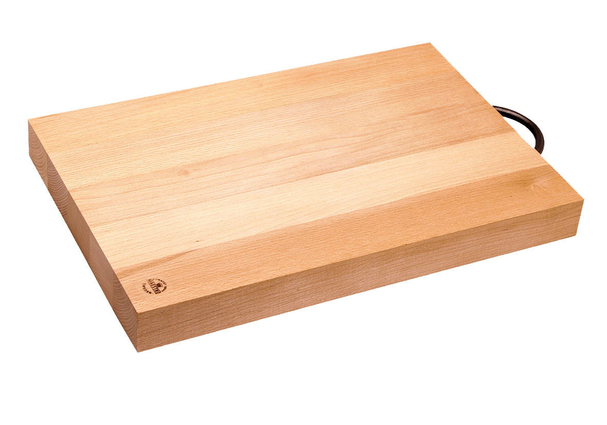"Cutting Board with One Cast-Iron Handle 12.5""x9 ¾"" x 1"""