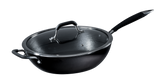 Deep Fry Pan in Light-Weight Cast Iron with Glass Lid
