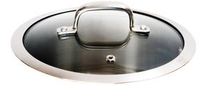 Stainless Steel and Glass Lid with Ventilation Hole- 4 Sizes