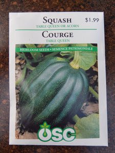 Squash Table Queen or Acorn