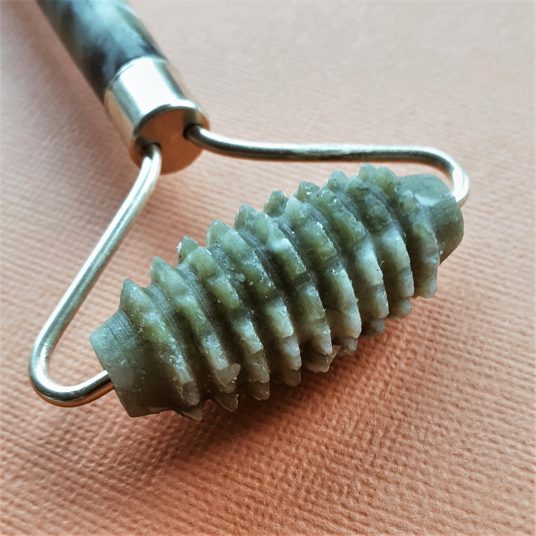 Textured Jade Facial Roller