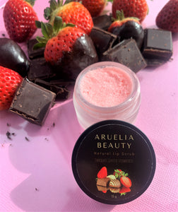 All Natural Lip Scrub - Chocolate Covered Strawberries