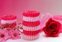 Load image into Gallery viewer, Pretty in Pink Colour SpiraBobbles | Hair Rings | Pack of 3 - SpiraBobble