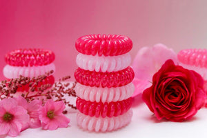 Pretty in Pink Colour SpiraBobbles | Hair Rings | Pack of 3 - SpiraBobble
