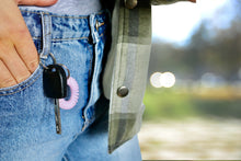 Load image into Gallery viewer, Baby Pink SpiraBobble showing on a key ring as part of 'where do you keep yours series'