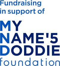 Load image into Gallery viewer, Fundraising in support of my name'5 doddie foundation logo