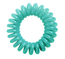 Load image into Gallery viewer, Tiffany Green SpiraBobble | Spiral Hair Bobbles & Hair Ties