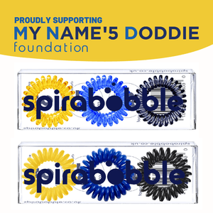 My Name'5 Doddie Foundation SpiraBobble Collection (Solid) | Packet of 3 Spiral Hair Bobbles