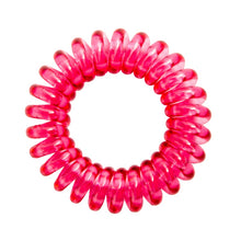 Load image into Gallery viewer, A perfect rose pink coloured plastic spiral circular hair bobble on a white background called a spirabobble.