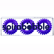 Load image into Gallery viewer, Deep Purple SpiraBobble | Spiral Hair Bobbles & Hair Ties