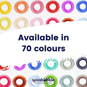 Pretty in Pink Colour SpiraBobbles | Spiral Hair Rings & Hair Ties